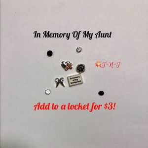 Jewelry - In Memory Of My Aunt Locket Charms Set